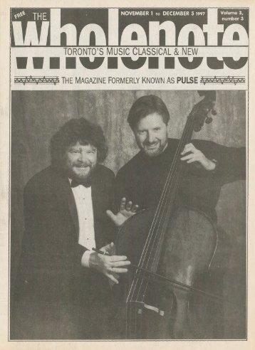 Volume 3 Issue 3 - November 1997