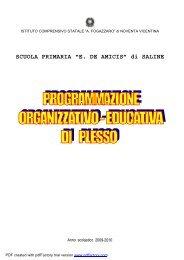 Progr.Pless.09.10 Saline - icsfogazzaro.it
