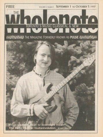 Volume 3 Issue 1 - September 1997