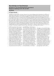 2011 Schwing Neurobiologie Der Psychotherapie -  PRAXIS - Institut ...