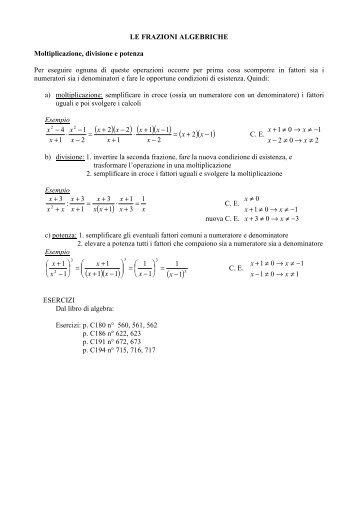 frazioni algebriche 2