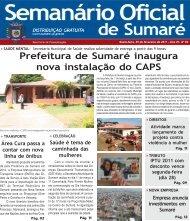 Semanário Oficial - Prefeitura Municipal de Sumaré
