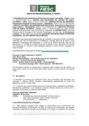 EDITAL Pregão FIESC