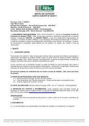 EDITAL DE LICITAÇÃO CARTA CONVITE Nº 04/2011 - Fiesc