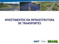 INVESTIMENTOS EM INFRAESTRUTURA DE TRANSPORTES - Fiesc