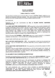 ata de julgamento proposta tecnica carta convite n.° 01/2013 - Fiesc