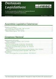 Assembleia Legislativa Catarinense Congresso Nacional - Fiesc
