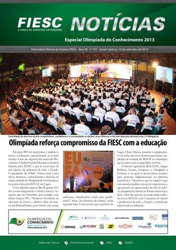 Olimpíada reforça compromisso da FIESC com a educação