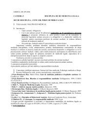 GHID DE STUDIU AD II-Malpraxis - UMF