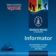 Informator - Akademia Morska w Szczecinie