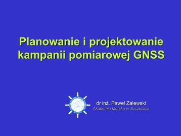 Projektowanie kampanii pomiarowej GNSS - Akademia Morska w ...