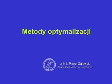 Optymalizacja liniowa - Akademia Morska w Szczecinie