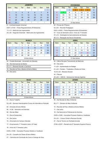 Calendário 2011 - IFTM