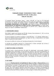 Edital para download - PTI - Parque Tecnológico Itaipu