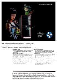 PSG Consumer 1C11 HP Desktop Datasheet - Steg