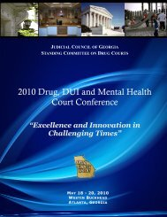 2010 Drug, DUI and Mental Health Court Conference