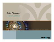Just Culture- Safe Choices - Mercy Medical Center-North Iowa