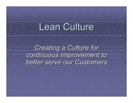 Lean Culture - Mercy Medical Center-North Iowa