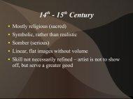 Mrs. Davis Enlightenment Art PowerPoint - Clark Humanities On-Line
