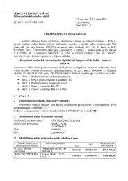 Písemná zpráva zadavatele - Veřejné zakázky - Ministerstvo obrany