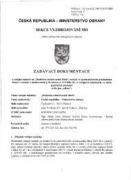 Zadávací dokumentace - Veřejné zakázky - Ministerstvo obrany