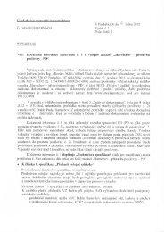 Dodatečné informace - Veřejné zakázky - Ministerstvo obrany