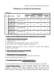 Požadavky TERMO - Veřejné zakázky