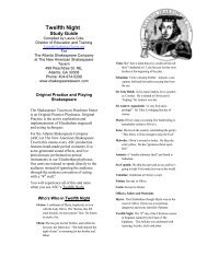 Twelfth Night Study Guide - The New American Shakespeare Tavern