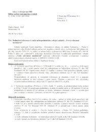 15.12.2011 - Dodatečné informace - Veřejné zakázky - Ministerstvo ...