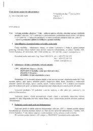 Výzva - Veřejné zakázky - Ministerstvo obrany