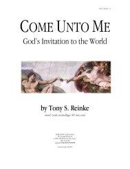 Come Unto Me: God's Invitation to the World - Richard Sibbes