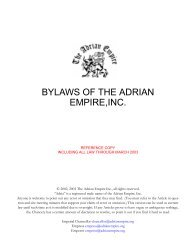 Bylaws, reference 2003 - The Adrian Empire