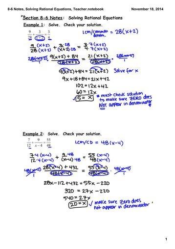 solving rational equations 1 worksheet answers rational. Black Bedroom Furniture Sets. Home Design Ideas