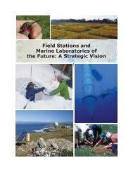 Field Stations and Marine Laboratories of the Future: A Strategic ...