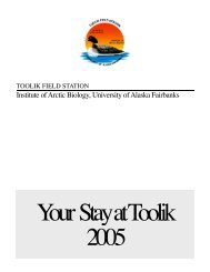 Toolik Visitor Manual 2005 - Organization of Biological Field Stations