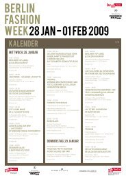 Kalender BERLIN FASHION WEEK Januar 2009 (de)