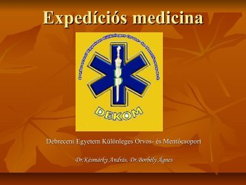 Expedíciós medicina - dekom