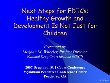 Next Steps for FDTCs: Healthy Growth and Development Is Not Just ...