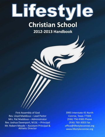 2012-2013 Handbook - Conroe First Assembly of God