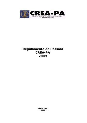 REGULAMENTO DE PESSOAL DO CREA com ... - Crea-PA