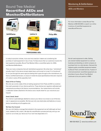 Recertified Product Flyer - Bound Tree Medical