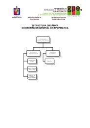 estructura orgánica coordinación general de informática