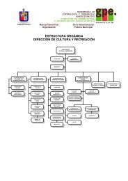 estructura orgánica dirección de cultura y recreación - Guadalupe