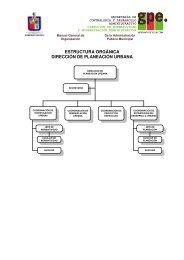 estructura orgánica y descripción de funciones generales