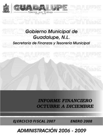 1ero. Octubre - 31 Diciembre 2007 - Guadalupe