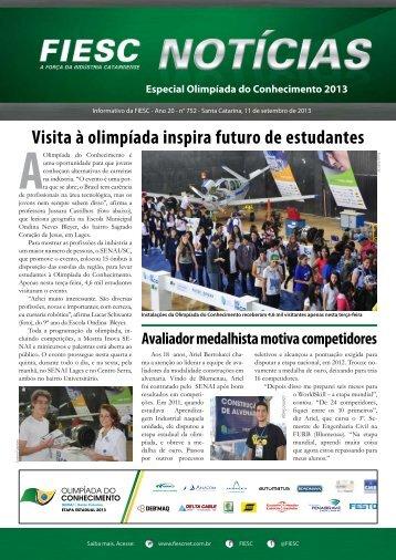 Visita à olimpíada inspira futuro de estudantes AOlimpíada - Fiesc