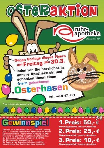 Osterhasen - Ruhr-Apotheke