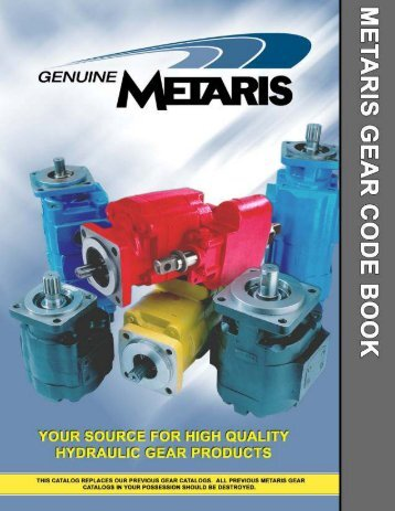 Cast iron gear pump and motors alternative for Commercial