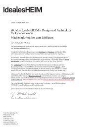 80 Jahre Idealesheim - Archithema Verlag AG
