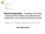 Cloud computing - Umgang mit ... - die advokatur